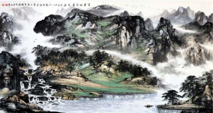 主功桂林山水画,从那开始珍惜学习机会,勤学苦练,严格要求老师传下的